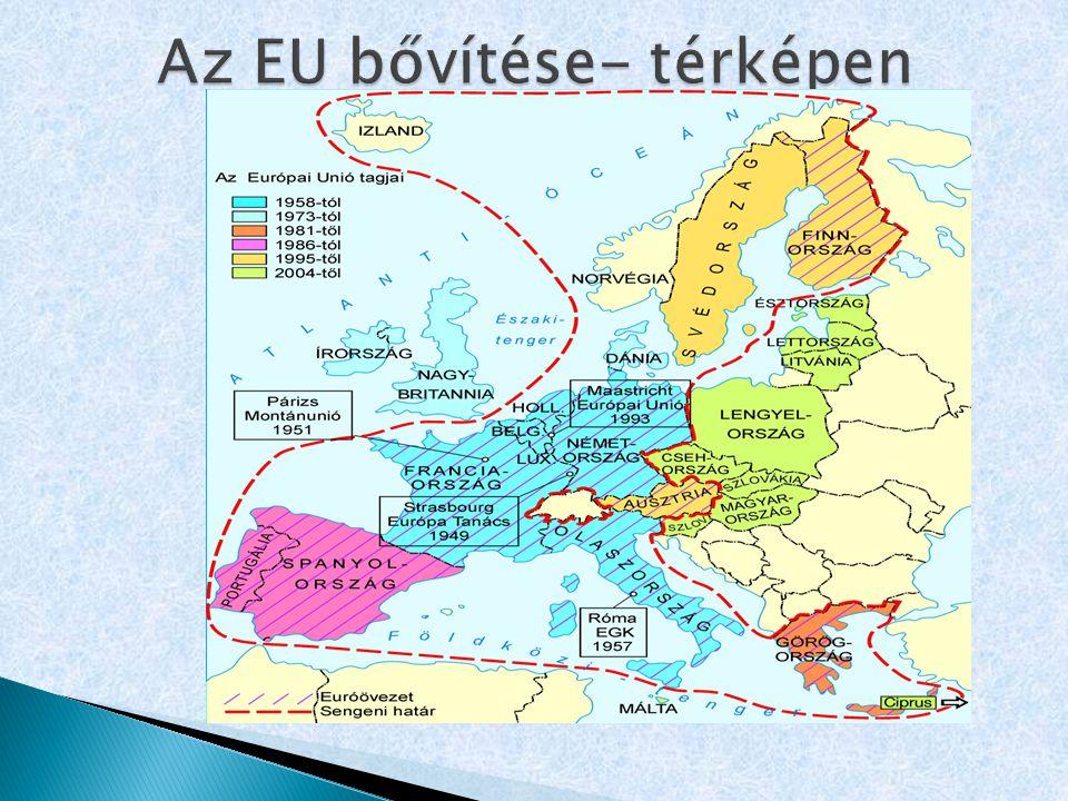 Az EU bővítése- térképen
