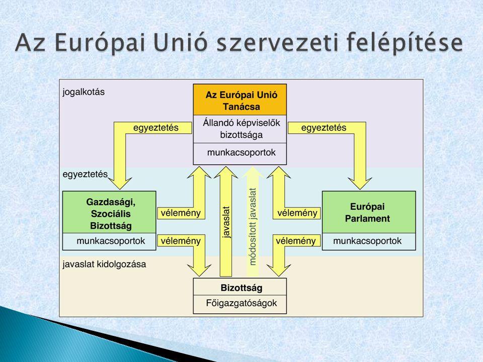 Az Európai Unió szervezeti felépítése