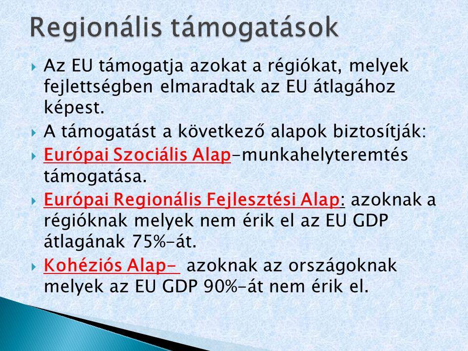 Regionális támogatások