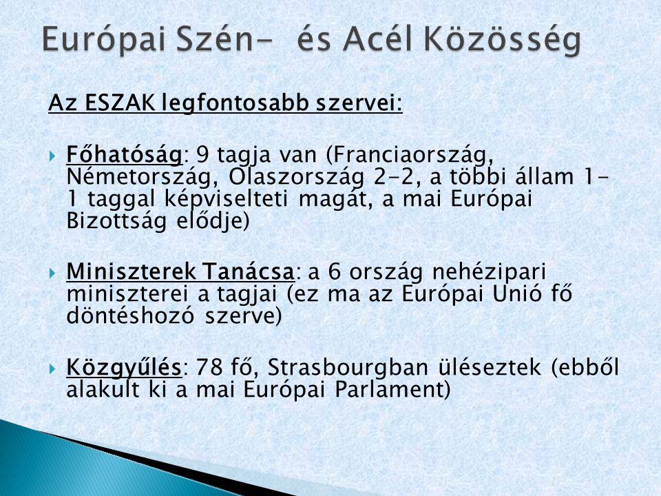 Európai Szén- és Acél Közösség