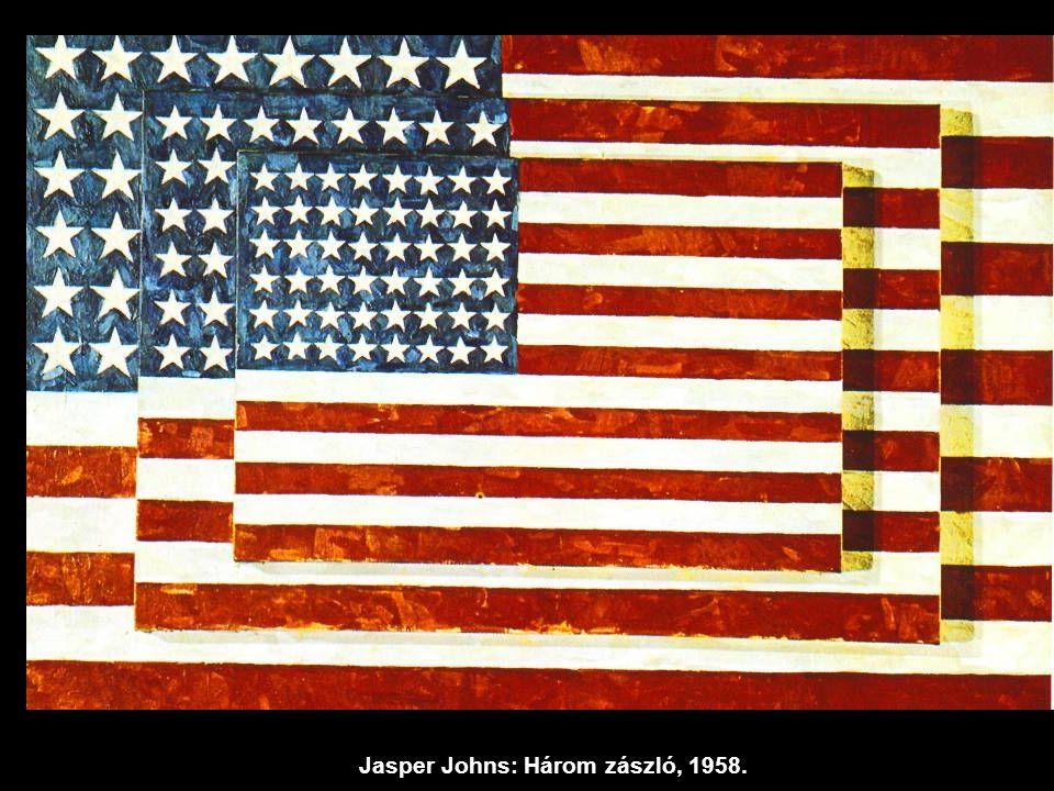 Jasper Johns: Három zászló, 1958.