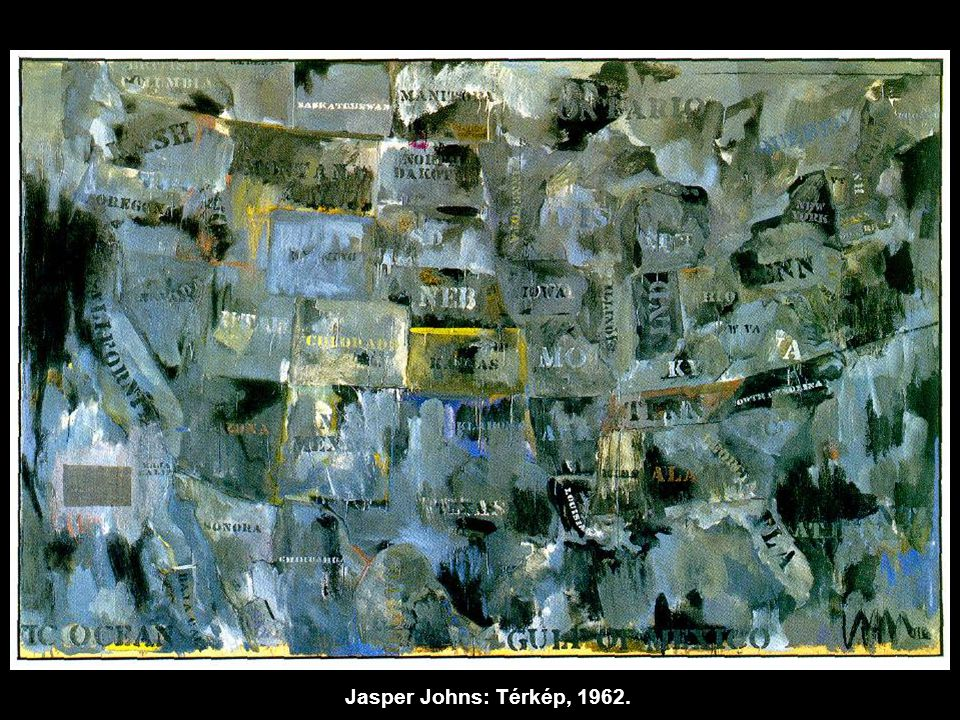 Jasper Johns: Térkép, 1962.