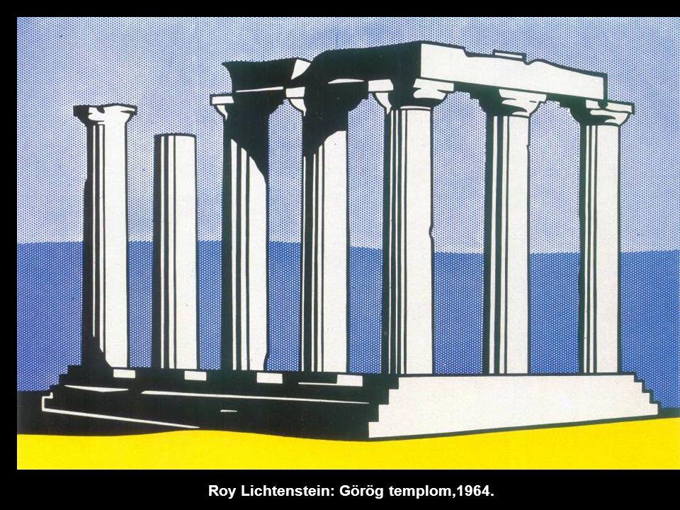 Roy Lichtenstein: Görög templom,1964.