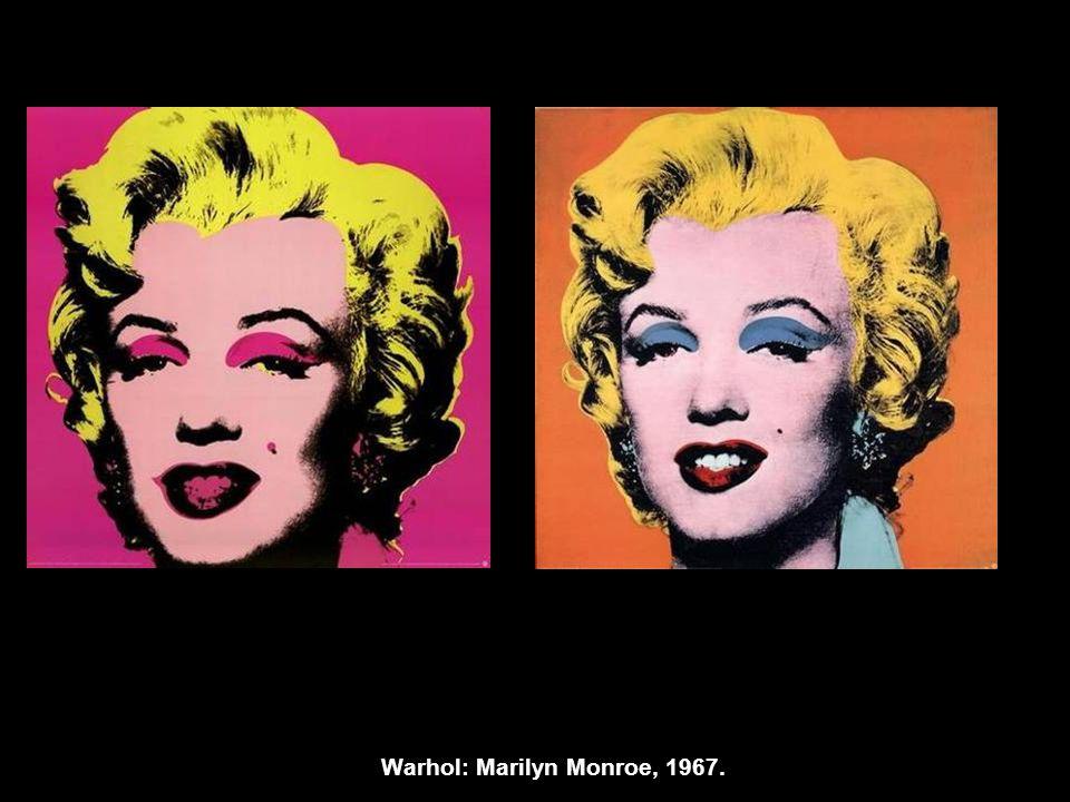 Warhol: Marilyn Monroe, 1967.