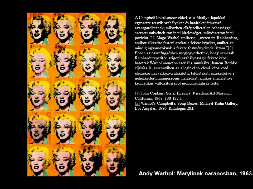 Andy Warhol: Marylinek narancsban, 1963.