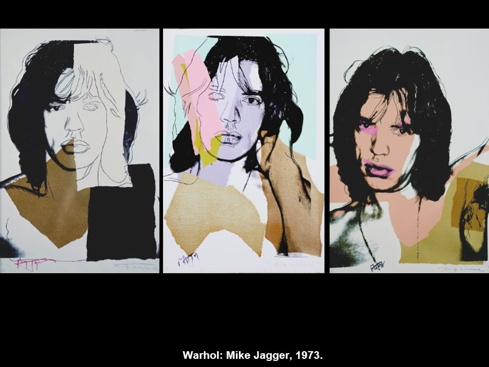 Warhol: Mike Jagger, 1973.