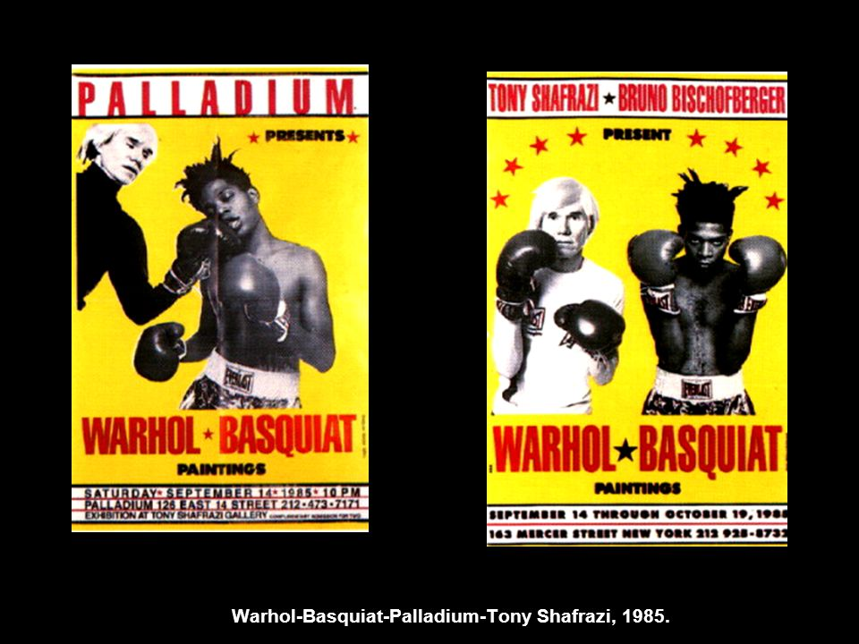 Warhol-Basquiat-Palladium-Tony Shafrazi, 1985.