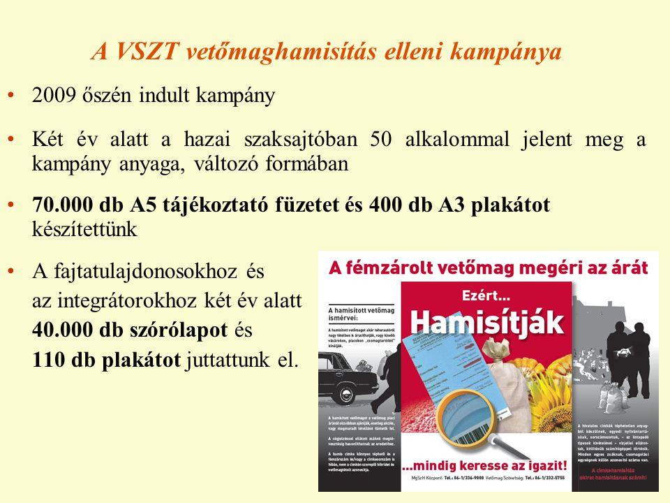 A VSZT vetőmaghamisítás elleni kampánya