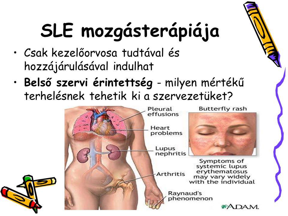 SLE mozgásterápiája Csak kezelőorvosa tudtával és hozzájárulásával indulhat.
