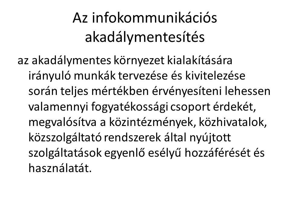 Az infokommunikációs akadálymentesítés