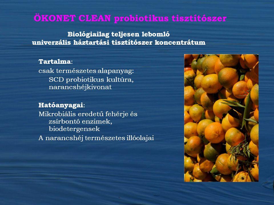 ÖKONET CLEAN probiotikus tisztítószer