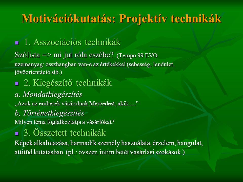 Motivációkutatás: Projektív technikák