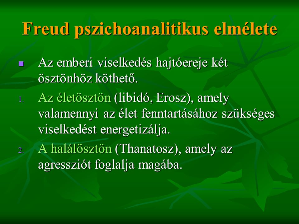 Freud pszichoanalitikus elmélete