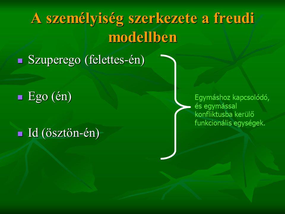 A személyiség szerkezete a freudi modellben