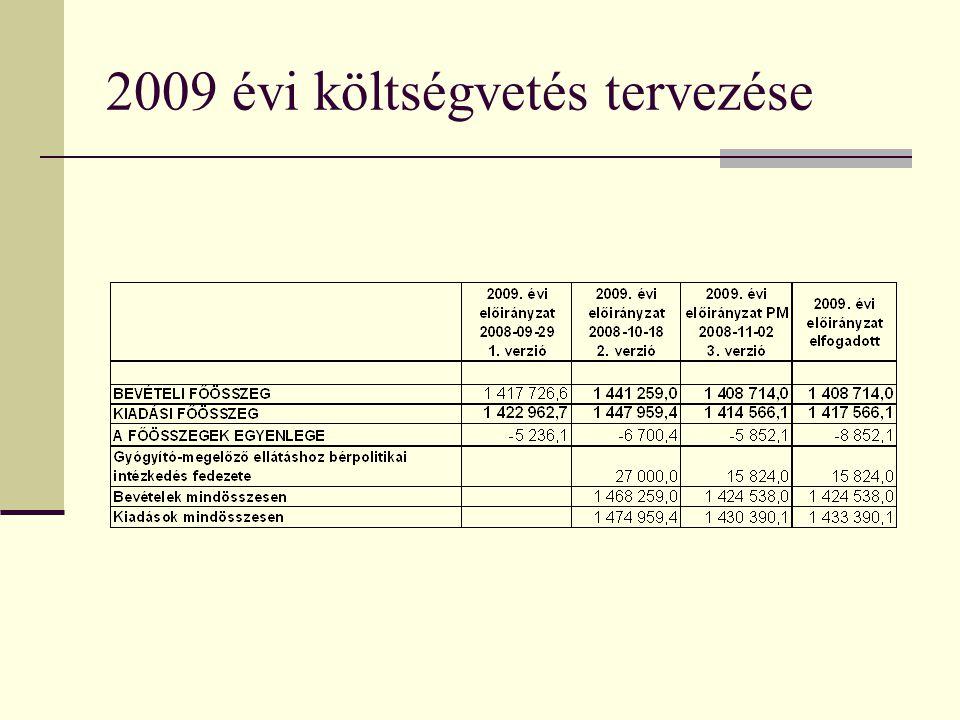 2009 évi költségvetés tervezése