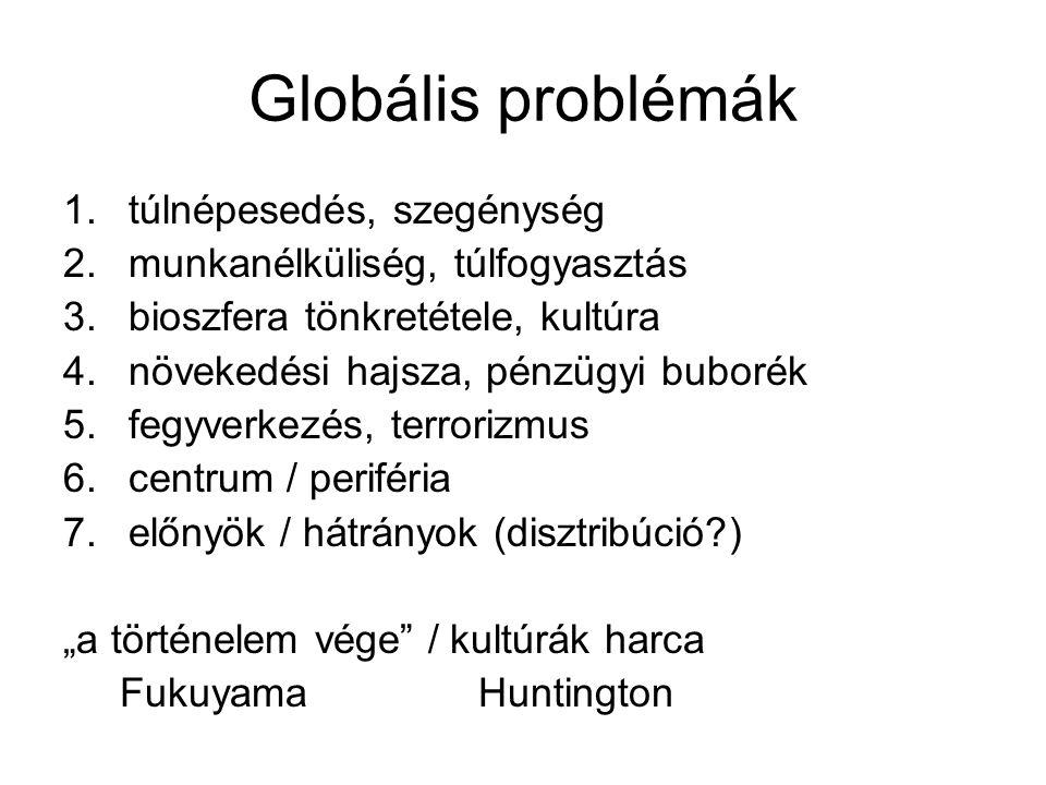 Globális problémák túlnépesedés, szegénység