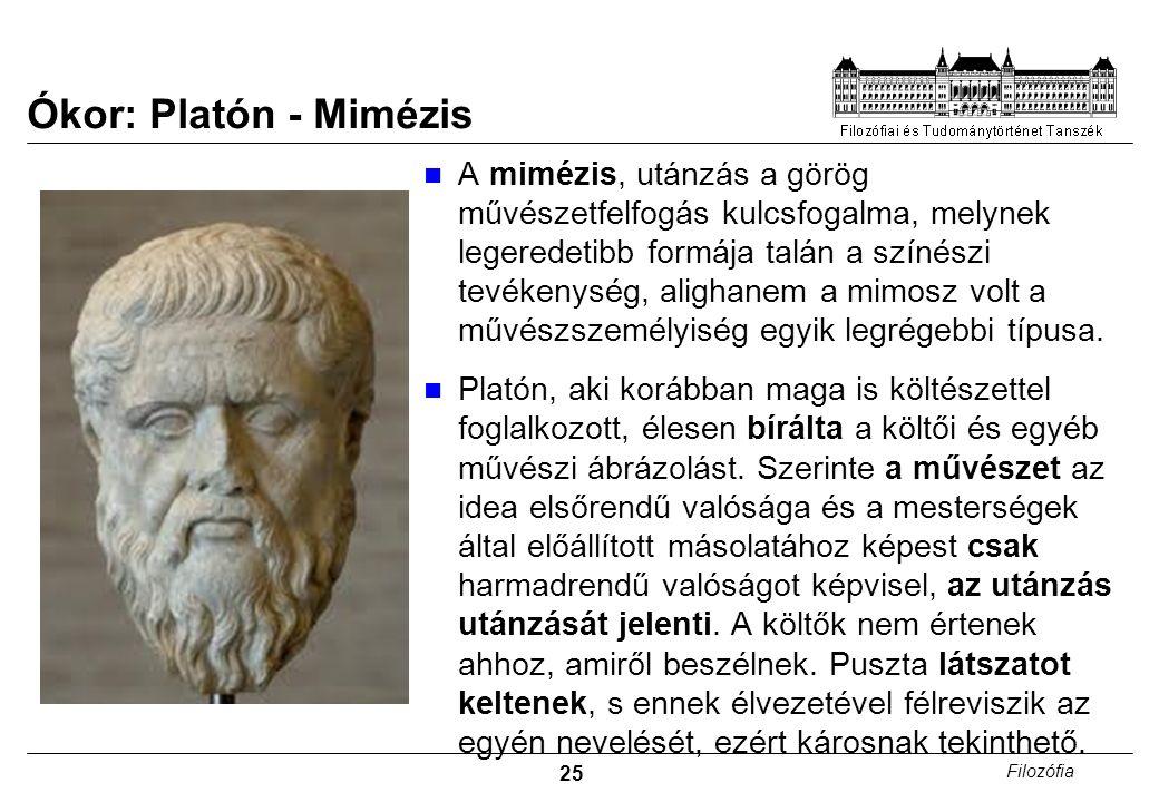 Ókor: Platón - Mimézis