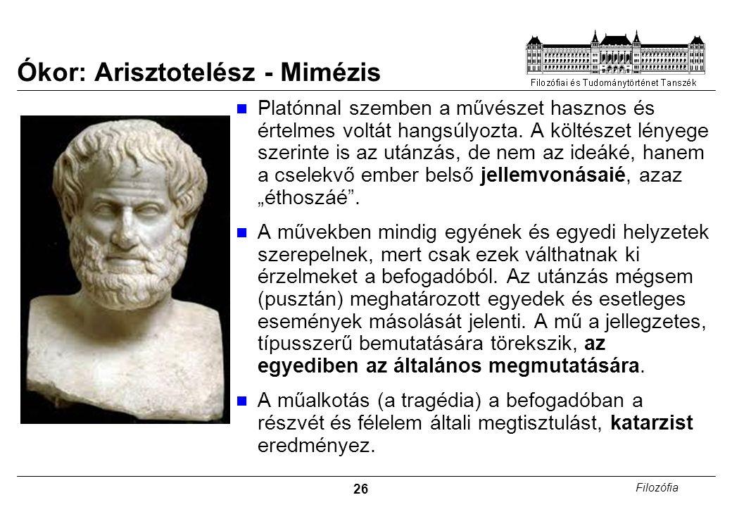 Ókor: Arisztotelész - Mimézis