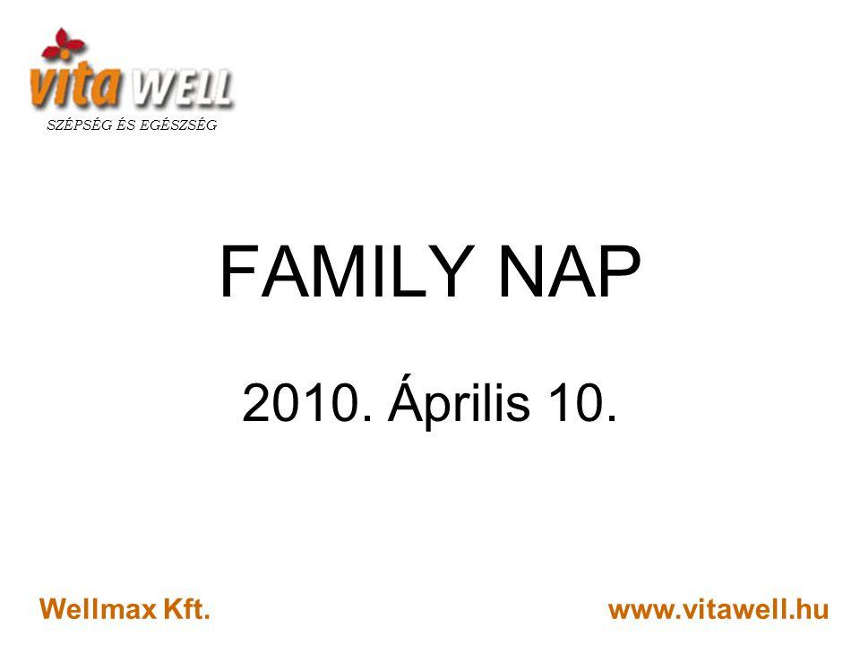 FAMILY NAP 2010. Április 10. Wellmax Kft. www.vitawell.hu