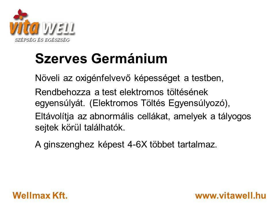Szerves Germánium Növeli az oxigénfelvevő képességet a testben,