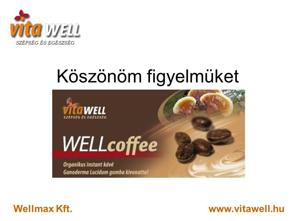 SZÉPSÉG ÉS EGÉSZSÉG Köszönöm figyelmüket Wellmax Kft. www.vitawell.hu