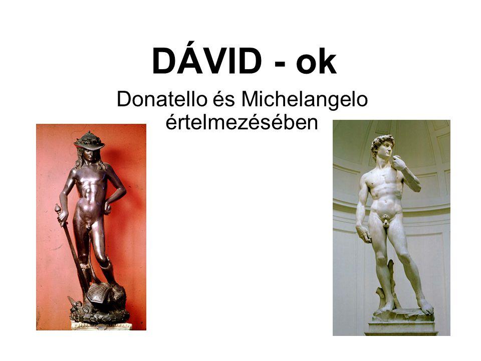 Donatello és Michelangelo értelmezésében