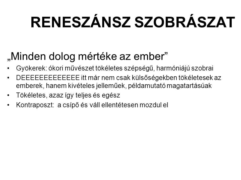 RENESZÁNSZ SZOBRÁSZAT