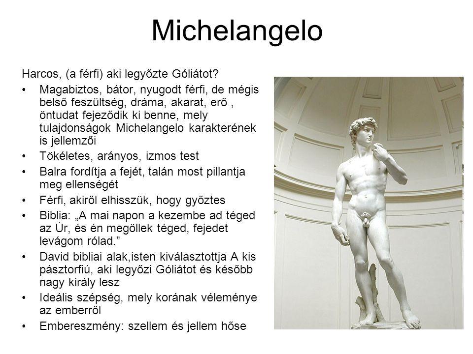 Michelangelo Harcos, (a férfi) aki legyőzte Góliátot