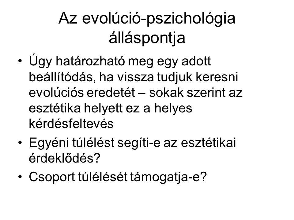 Az evolúció-pszichológia álláspontja