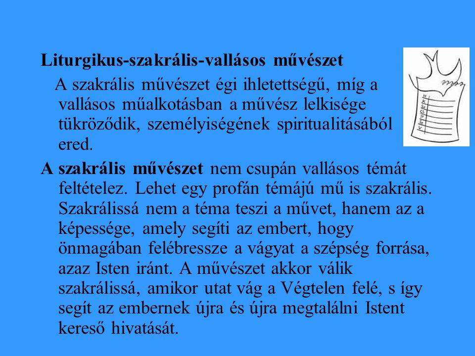Liturgikus-szakrális-vallásos művészet