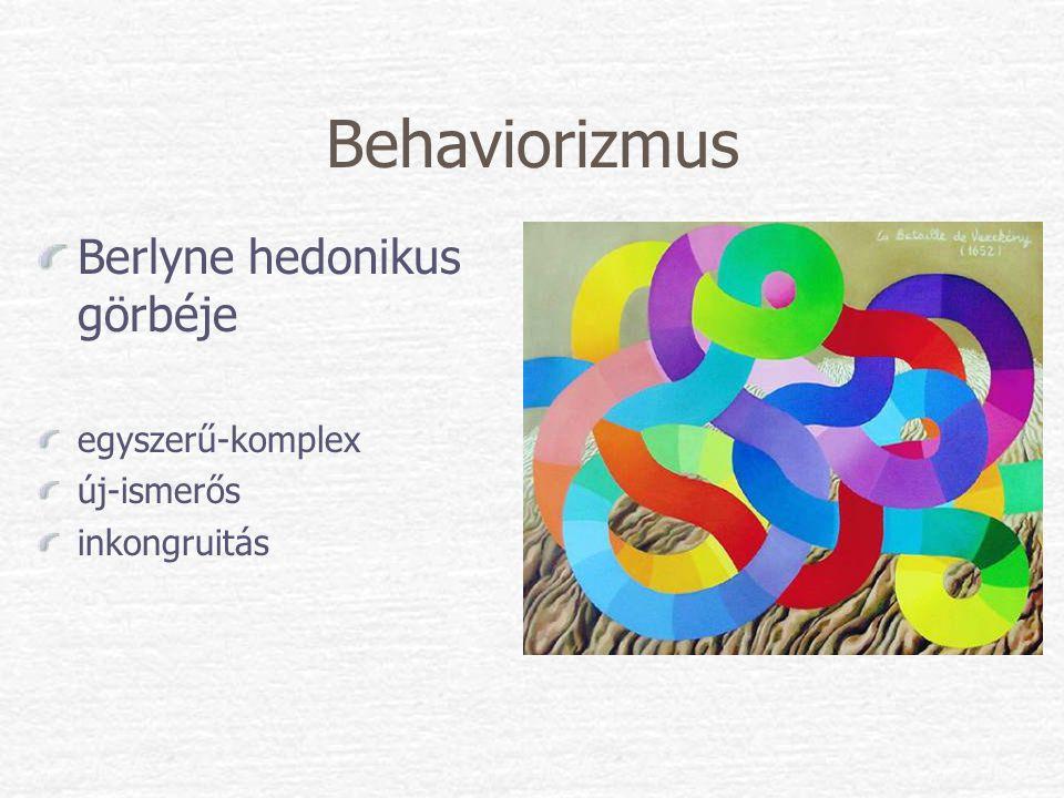 Behaviorizmus Berlyne hedonikus görbéje egyszerű-komplex új-ismerős
