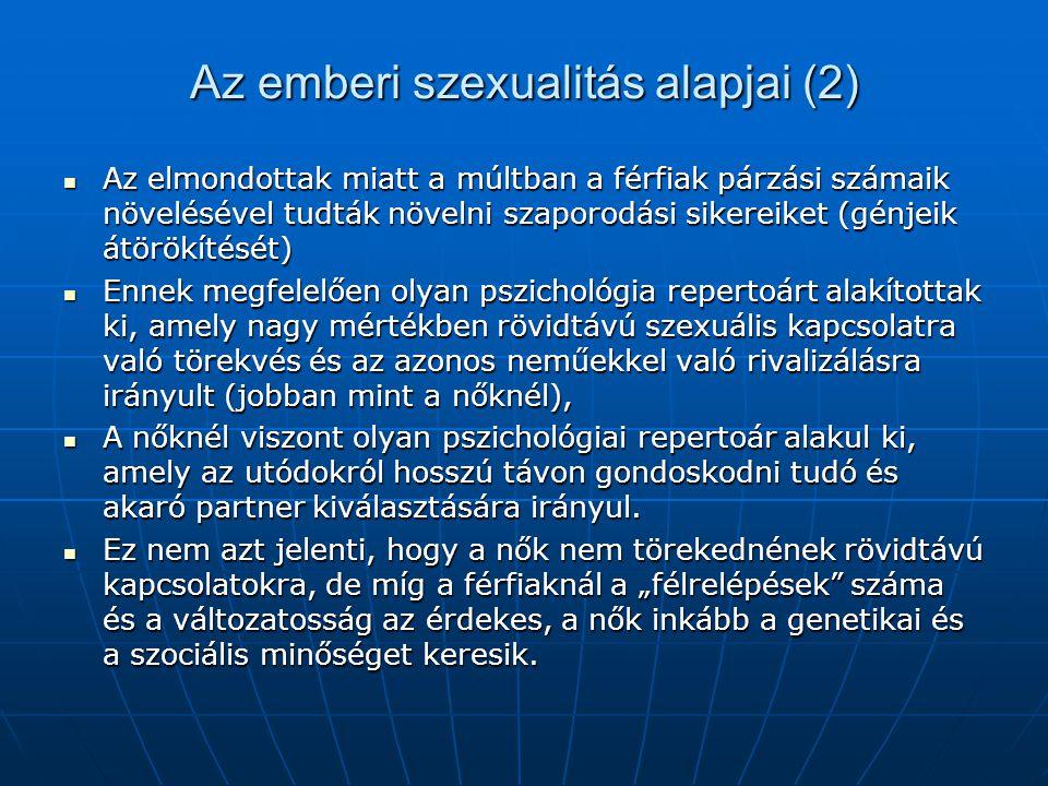 Az emberi szexualitás alapjai (2)