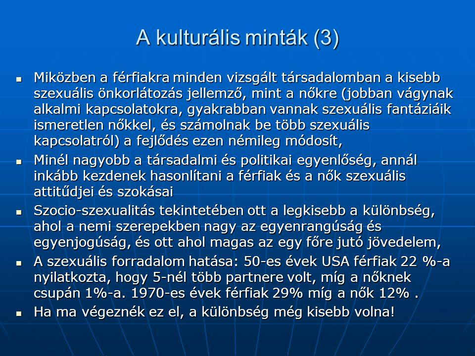 A kulturális minták (3)