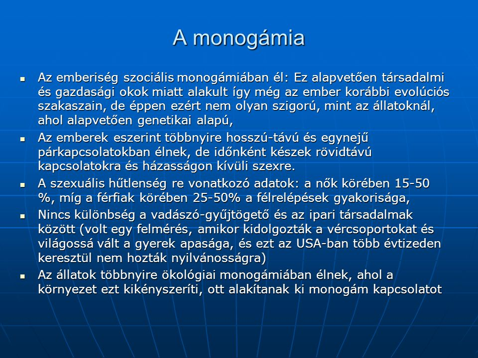 A monogámia