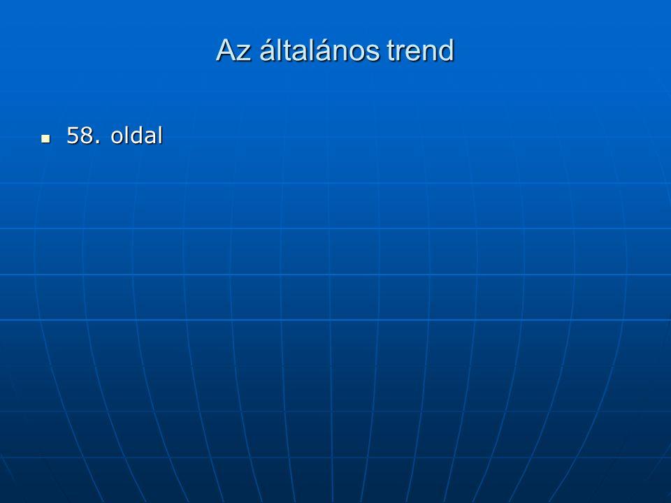 Az általános trend 58. oldal