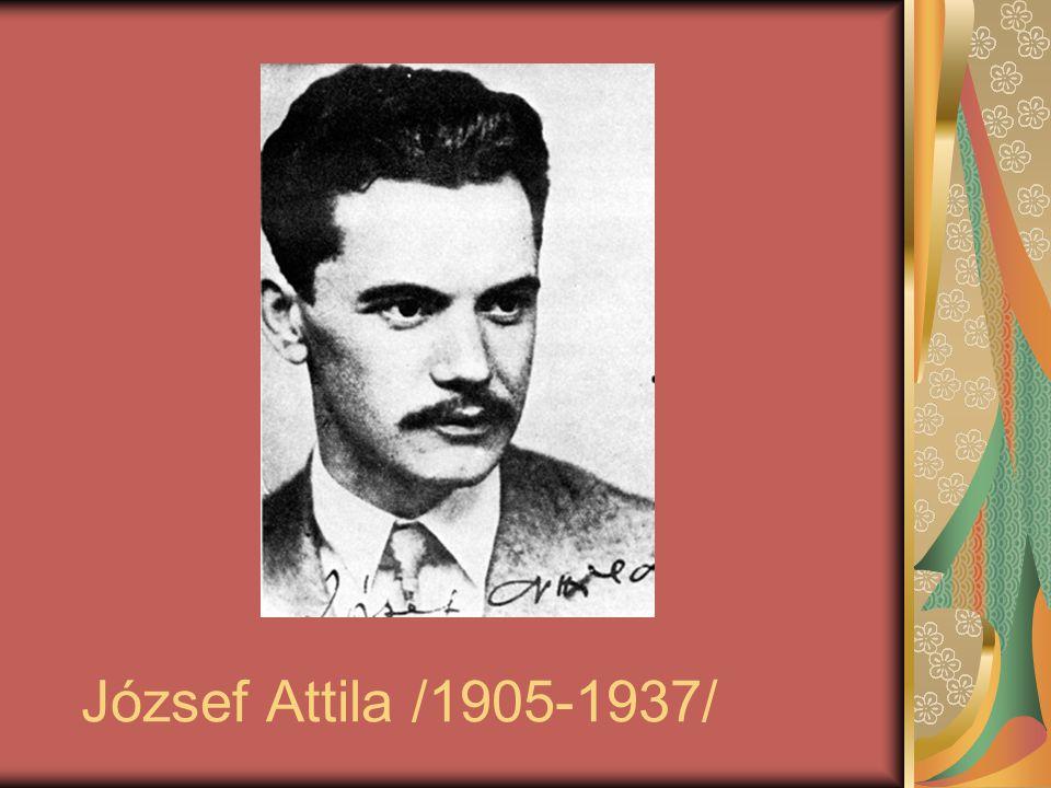 József Attila /1905-1937/