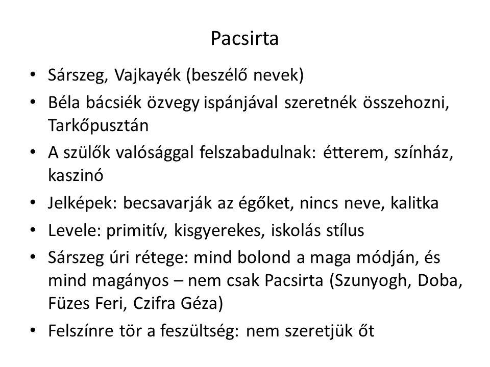 Pacsirta Sárszeg, Vajkayék (beszélő nevek)