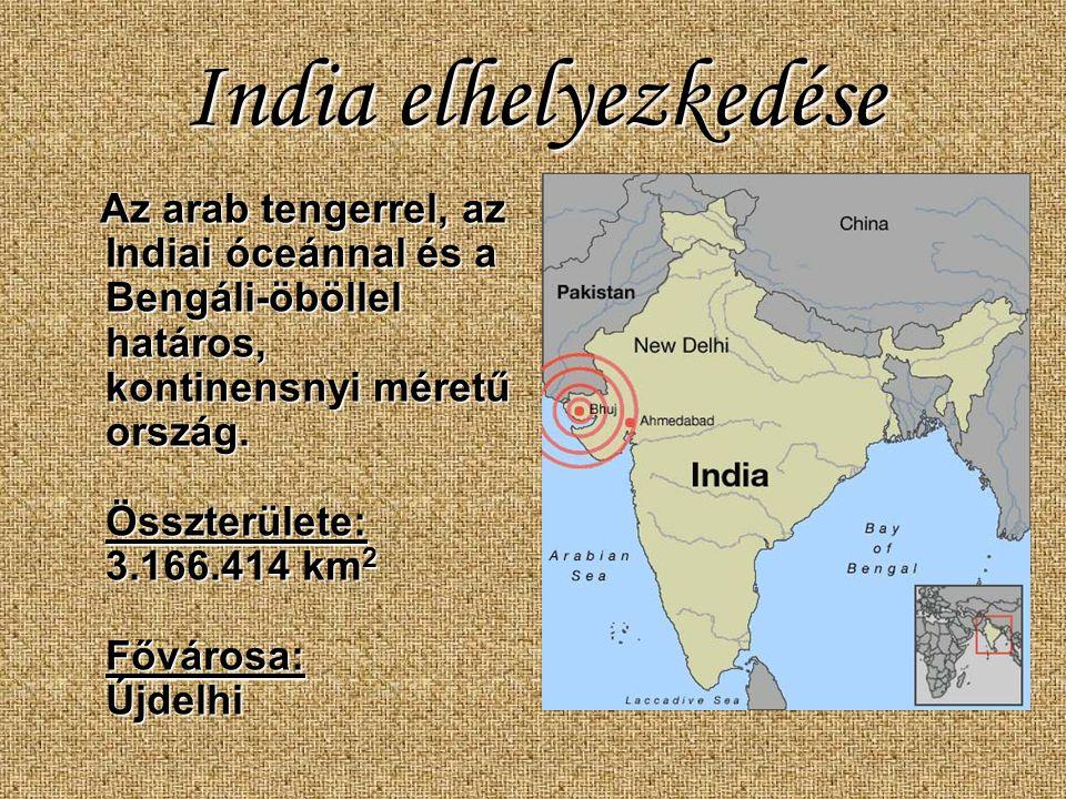 India elhelyezkedése