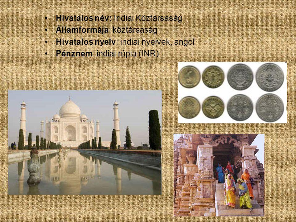 Hivatalos név: Indiai Köztársaság