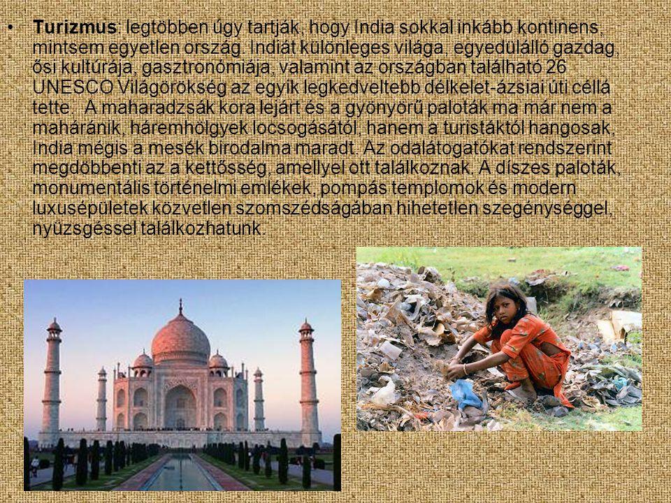 Turizmus: legtöbben úgy tartják, hogy India sokkal inkább kontinens, mintsem egyetlen ország.