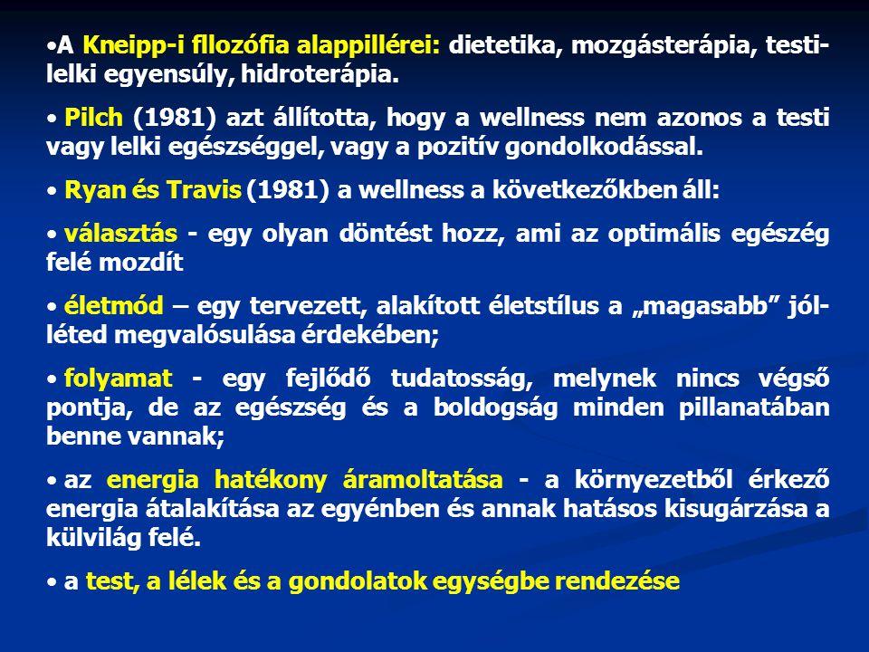 A Kneipp-i fllozófia alappillérei: dietetika, mozgásterápia, testi-lelki egyensúly, hidroterápia.