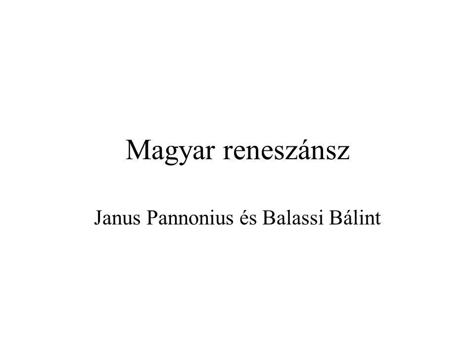 Janus Pannonius és Balassi Bálint