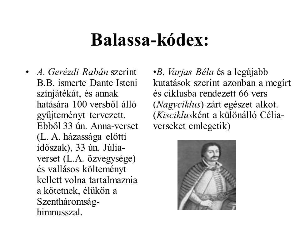Balassa-kódex: