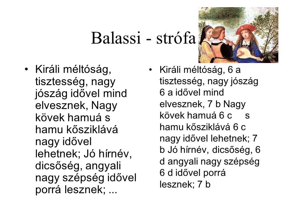 Balassi - strófa