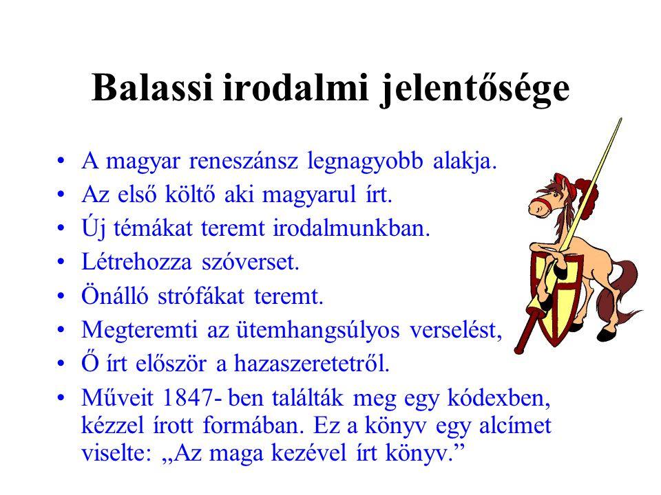 Balassi irodalmi jelentősége