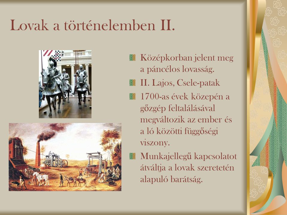 Lovak a történelemben II.