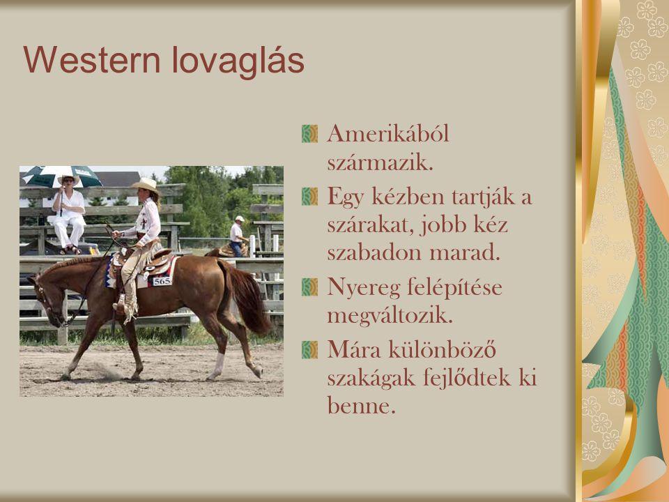 Western lovaglás Amerikából származik.