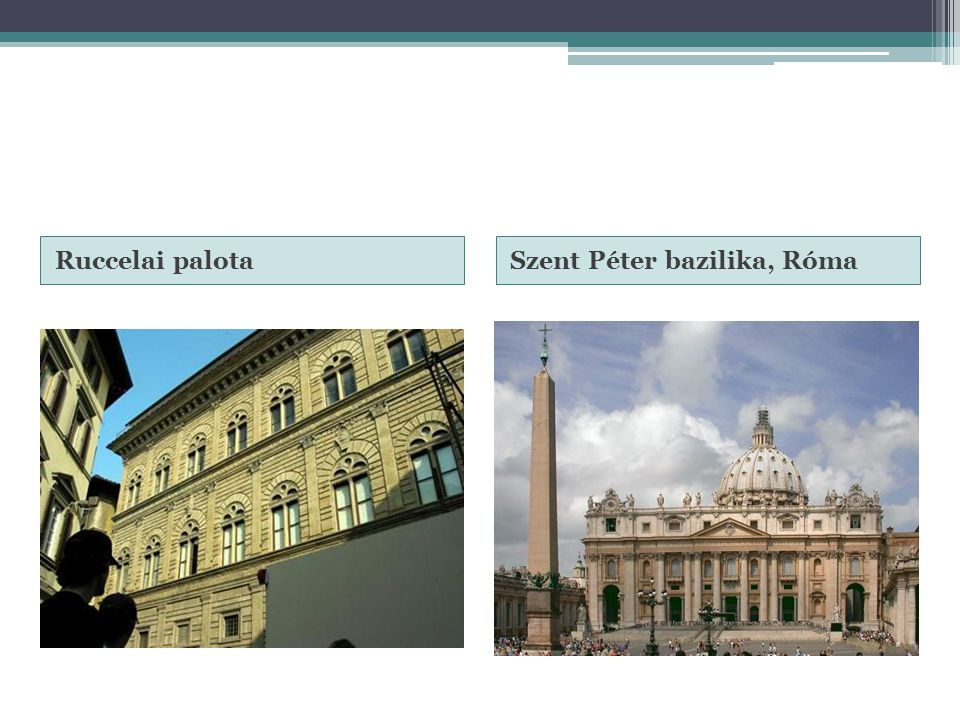 Ruccelai palota Szent Péter bazilika, Róma