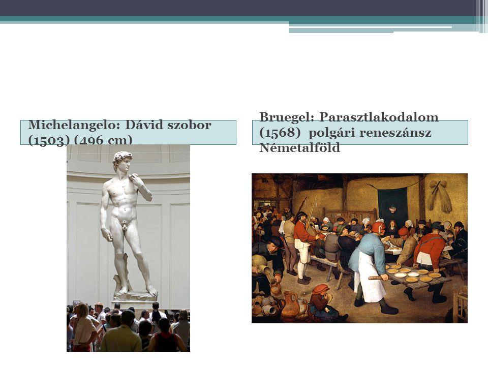 Michelangelo: Dávid szobor (1503) (496 cm)