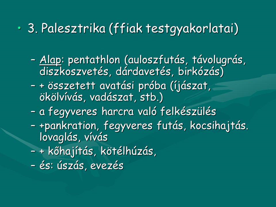 3. Palesztrika (ffiak testgyakorlatai)
